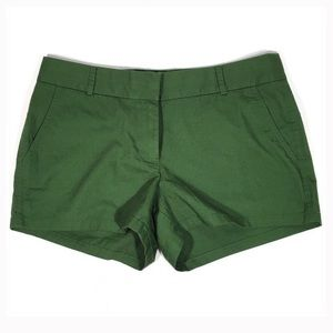 "J. Crew Factory Shorts - J. Crew Green 3"" Cotton Chino Shorts Size 6"